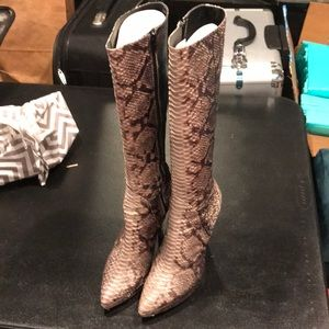 Charles David authentic snake skin boots